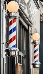Barber shop sign in Paris