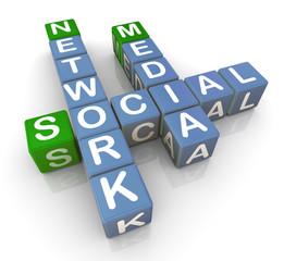 3d social media network
