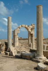 Libia. Leptis Magna. Arco di Traiano