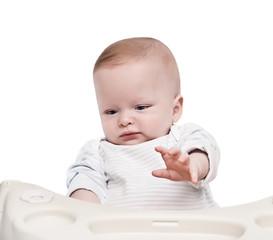 newborn gives a hand