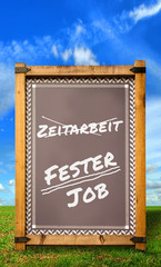 Strassenschild 34 - Fester Job