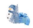 blue snowman, fir-tree, gift
