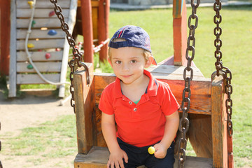Parkta Küçük Çocuk