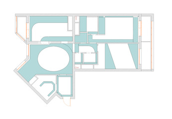 The plan of a ceiling of the apartment