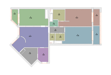 The plan of an explication of rooms of the apartment
