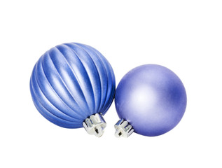 blue spheres on white isolated