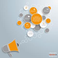 Speech Bubble Circles Bullhorn