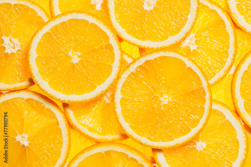 canvas print picture Colorful orange fruit slices