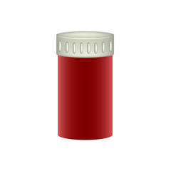 Medical container in red design