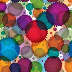 Colorful splattered web design repeat pattern, overlay art ink b