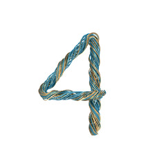 4, four, set of numbers of twisted wire