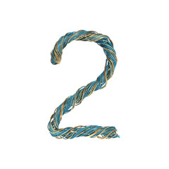 2, two, set of numbers of twisted wire