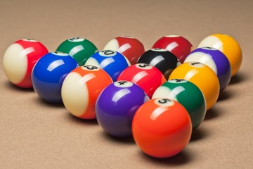 fifteen billiard balls