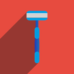 Flat Icon of machine for shaving