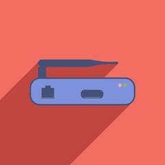 Flat Icon of Internet modem