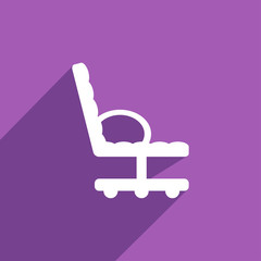 Flat Icon of office chair