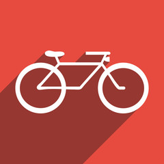 Flat Icon of bicycle