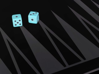 image of dice on board