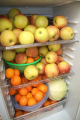 fruits in the fridge