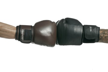 two boxer gloves