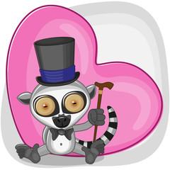 Lemur in hat