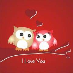 San Valentín_Pareja de buhos enamorados_I love you FR