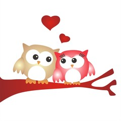 San Valentín_Pareja de buhos enamorados FB