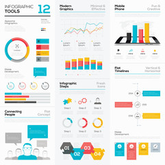Infographic tools and business vector graphics elements