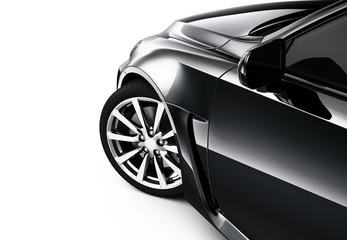 Part of black car