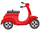 Fototapety Red motor scooter