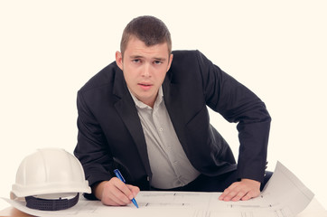 Young architect or structural engineer