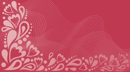 Love valentines day card, vector illustration