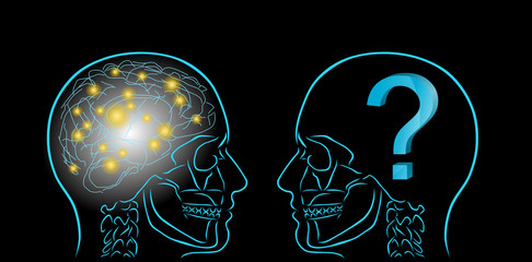 myśle i znak zapytania