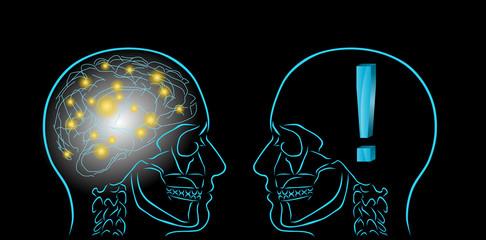 myśle i wykrzyknik