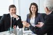 canvas print picture - Business conversation
