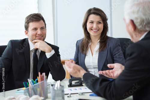 canvas print picture Business conversation