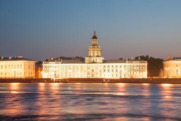 Famous Kunstkamera museum on Vasilievsky Island, St Petersburg
