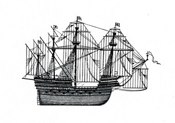 English sailing ship, 16th century
