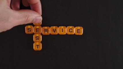 Letter Blocks Spell Best Service