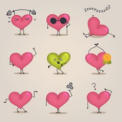 Heart concept set