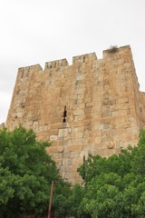 Tower on wall of Jerusalem