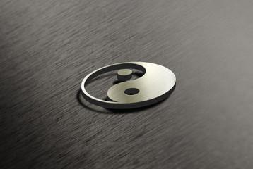 Yin Yang - Metall - Struktur
