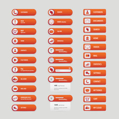 New orange circle buttons pack