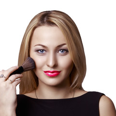 Girl doing makeup