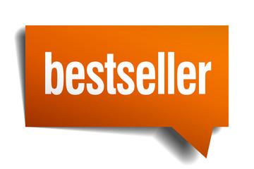 bestseller orange speech bubble isolated on white