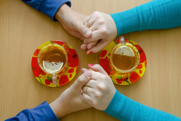 Love, support and pleasant conversation over a cup of tea