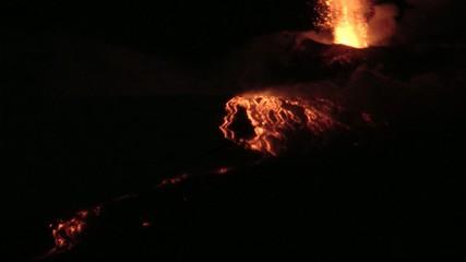 Esplosioni e colate dell'eruzione dell'Etna (febbraio 2015)