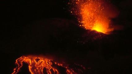 Forte esplosione vulcanica (Etna - 1/02/2015)