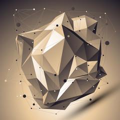 Contemporary technology bronze asymmetric stylish construction,