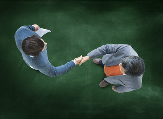 Businessmen Handshake Corporate Partnership Meeting Concept